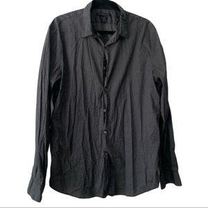 John Varvartos Casual Button Down Shirt Black XL